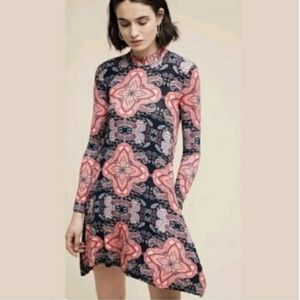 Anthropologie MAEVE Myra Paisley Mock Knit Dress